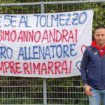 Il saluto di Vincenzo Radina all'Arta, ora a tempo pieno negli Allievi del Tolmezzo